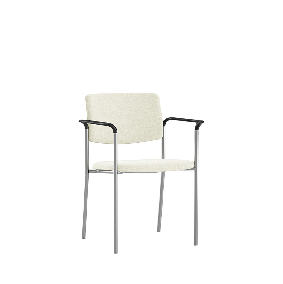 accent metal stacking chair with arms SA510