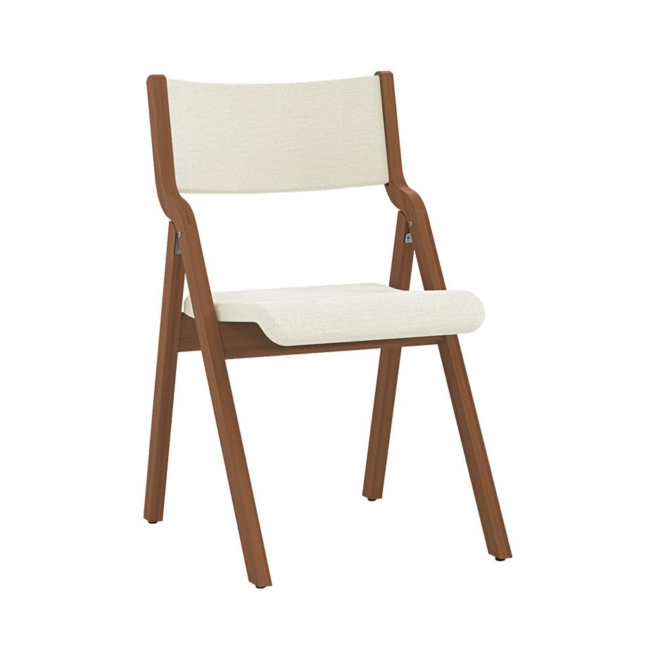 kite wood folding chair upholstered back KT300-UPB